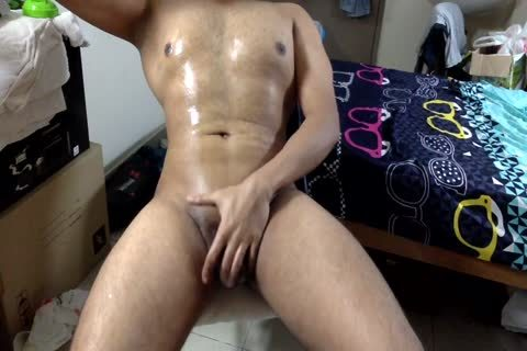 Oil Massage, Fingering And jerking off To cum