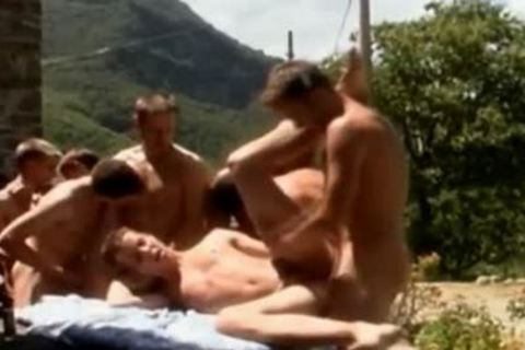 Outside An orgy Goes Down With filthy twinks