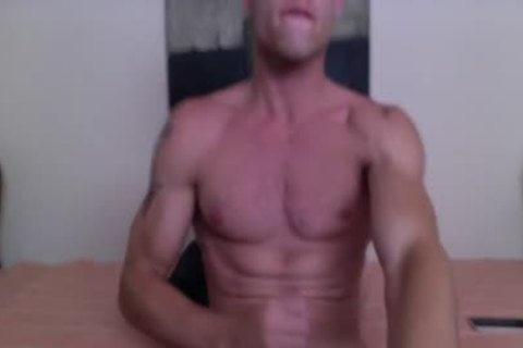 Justin Matthews Has A sex cream Fest On His Six-Pack Abs